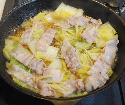 豚肉と白菜、葛きりの重ね蒸し4 (1)-400