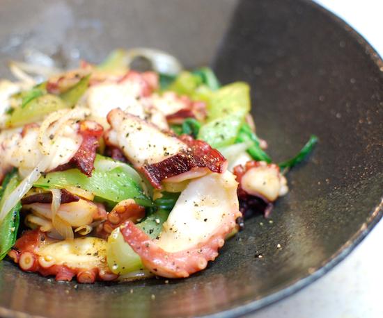 たことチンゲン菜のにんにく風味8 (1)-550