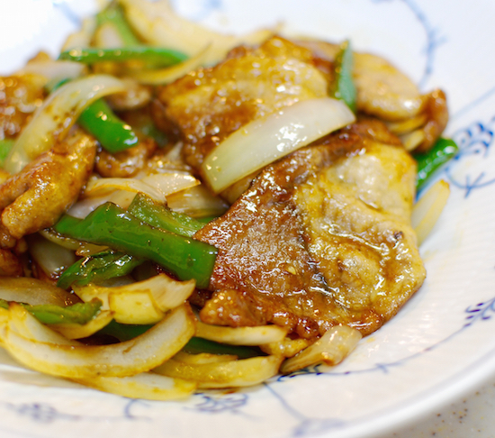 豚肉の黒酢炒め クミン風味8 (1)-550