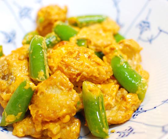 スナップえんどうと鶏肉のマヨチリ12 (1)-550