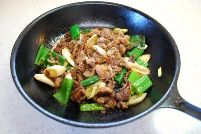 牛肉とねぎの味噌風味5