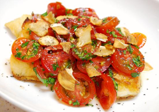 白身魚のソテー トマトソースがけ