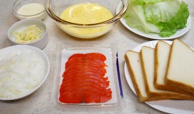 塩フレンチトーストのサーモンサンド1
