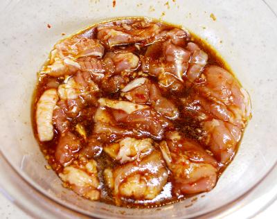 鶏とゴーヤのスタミナ揚げ2