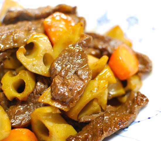 れんこんと牛肉のバターしょうゆ炒め8 (1)-550