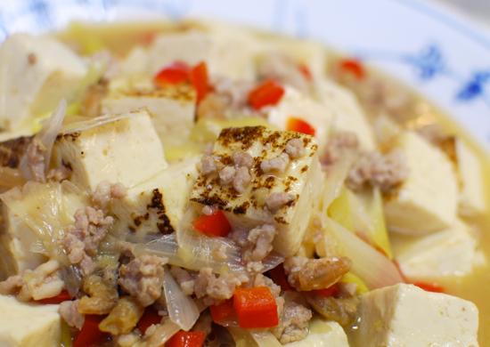 焼き豆腐と挽肉の煮込み10-550