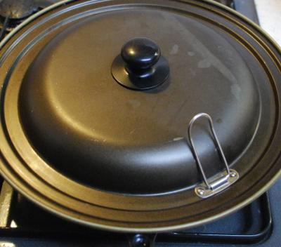 クリーム煮をかけたWソースのマッシュルームカレー8-400