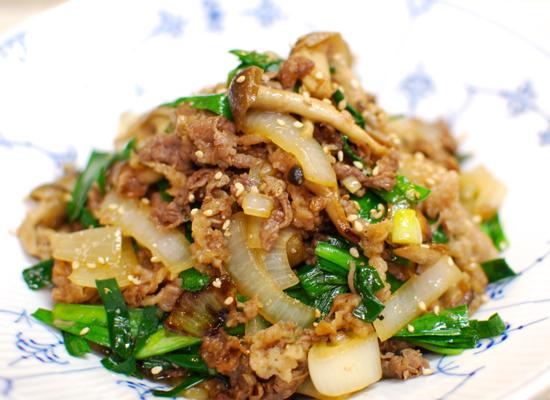 韓国風牛肉の炒め物6-550