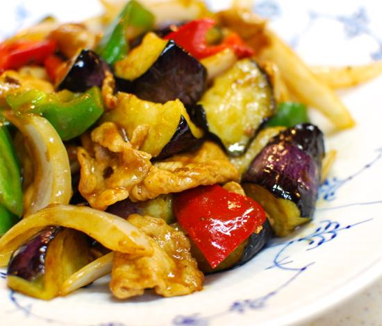 豚肉となすの甘味噌炒め7-550