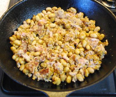 大豆とひき肉のカレー4-400