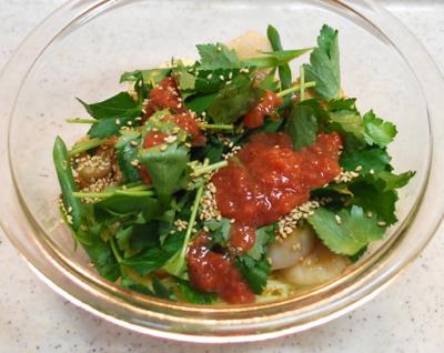 ホタテと梅肉の和え麺10-400