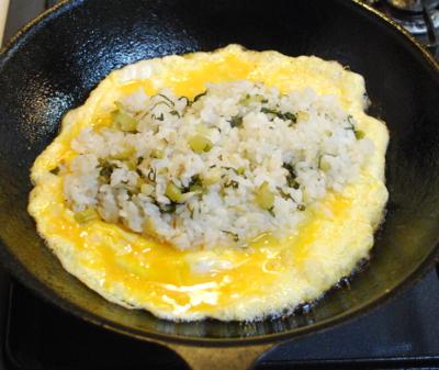 野沢菜オムライス6-400