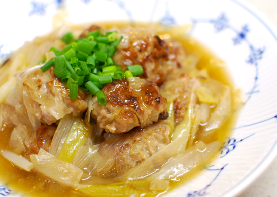 肉団子のねぎ醤油煮込み12-550