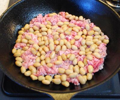 大豆とひき肉のカレー2-400