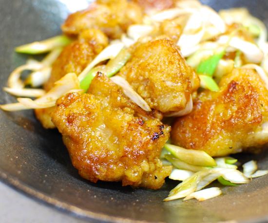 鶏のこがし醤油炒め10-550