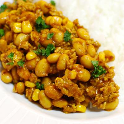 大豆とひき肉のカレー6-400