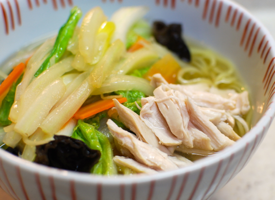 白菜とねぎの塩ラーメン9-550