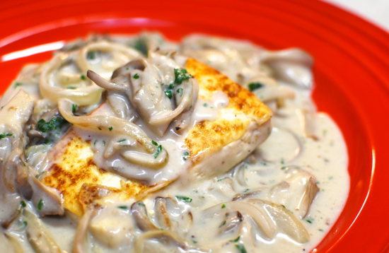 豆腐のステーキ きのこソース14-550