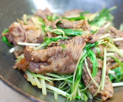 牛肉と水菜のしょうが炒め7-400