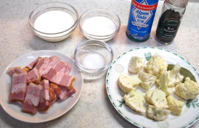 クリーム煮をかけたWソースのマッシュルームカレー2-400