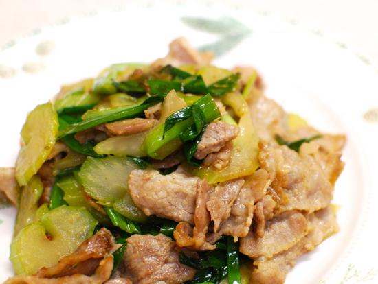 豚肉とねぎの胡椒炒め9-550