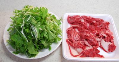 牛肉と水菜のしょうが炒め1-400