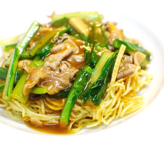 豚肉と小松菜のあんかけ焼きそば11 (1)-550