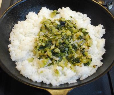 野沢菜オムライス5-400