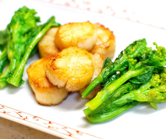 菜の花と帆立てのバターじょうゆ焼き7 (1)-550