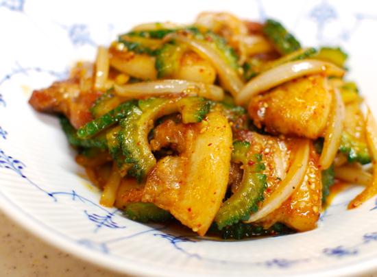 豚肉とゴーヤー炒め10-550