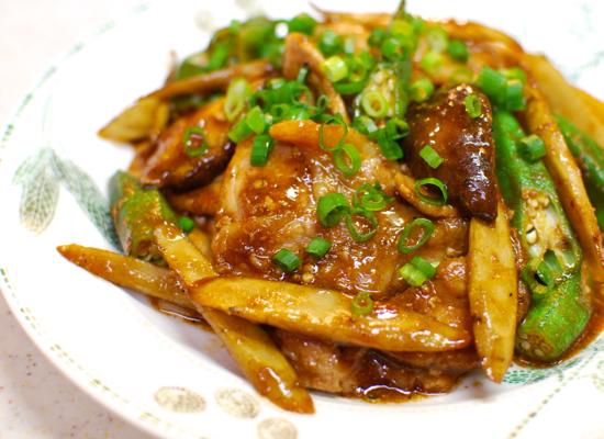 豚肉の味噌しょうが焼き7-550