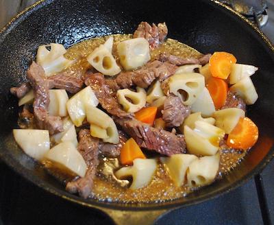 れんこんと牛肉のバターしょうゆ炒め6 (1)-400
