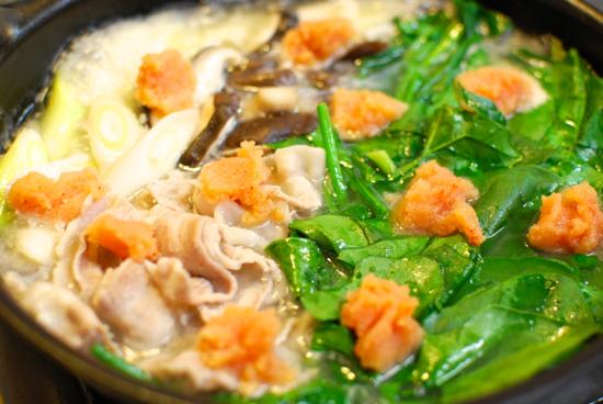 ほうれん草と豚肉の明太チゲ3-550