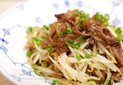 もやしと牛肉の中国風炒め11-400