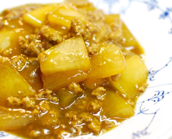 冬瓜と豚ひき肉の旨煮カレー風味9-550