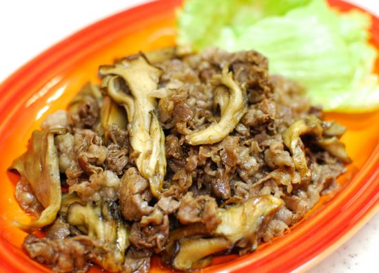 牛肉とまいたけのウスターソース炒め3-550
